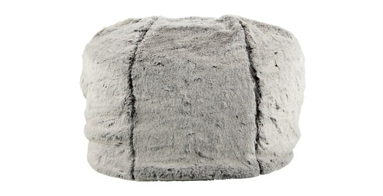 Silver Alaska Faux Fur Bean Bag
