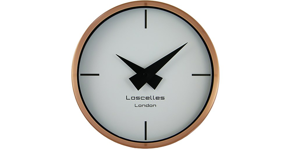 Brushed Copper Wall Clock