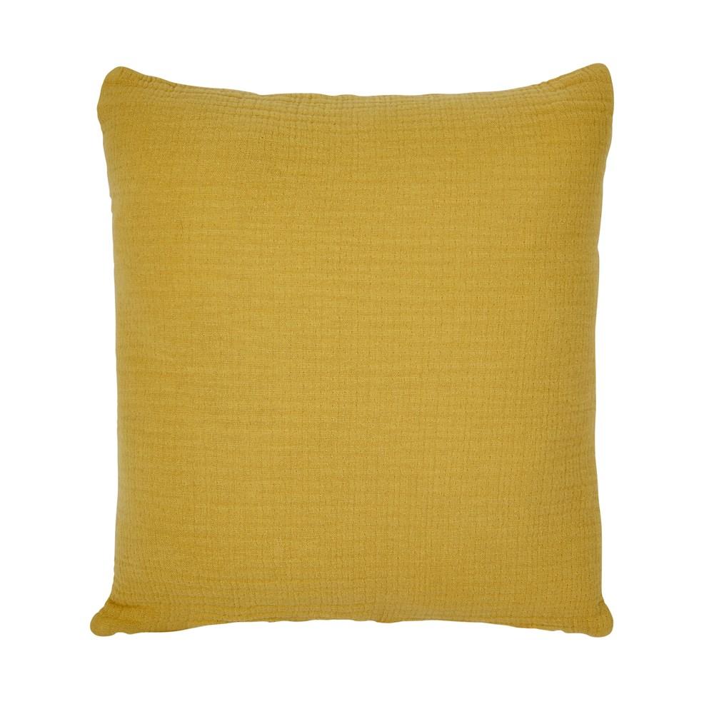 Looe Crinkle Ochre Cushion