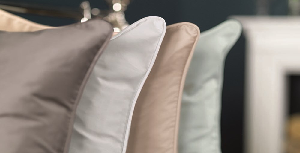 Luxury Plain Sateen Cushions