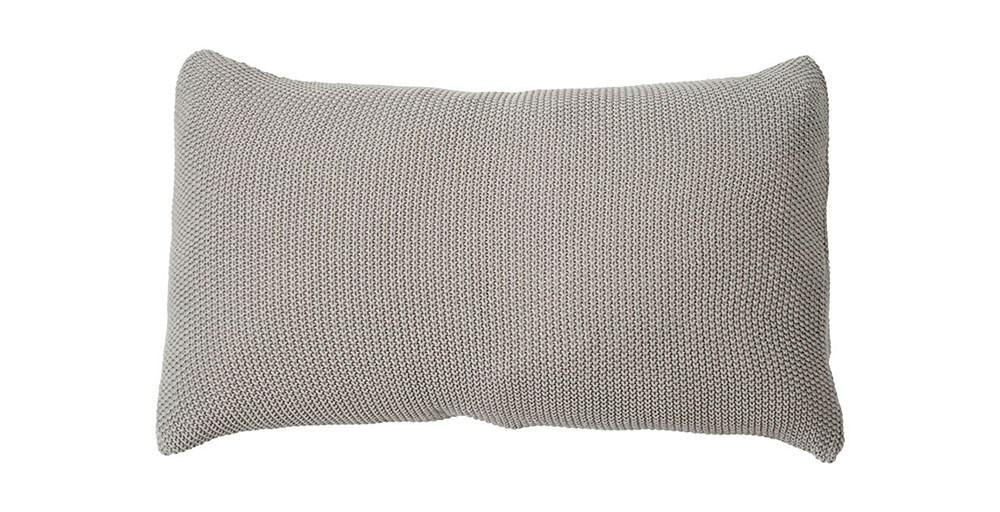 Moss Stitch Silver Cushion
