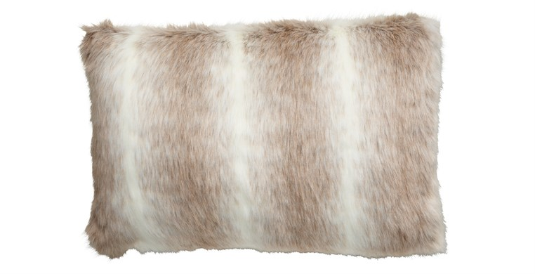 Reindeer Faux Fur Cushion