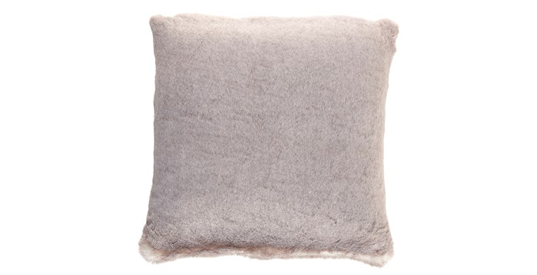 Silver Alaska Faux Fur Cushion