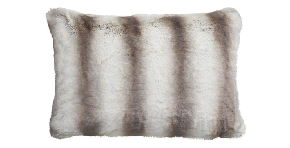 Silver Chinchilla Faux Fur Cushion