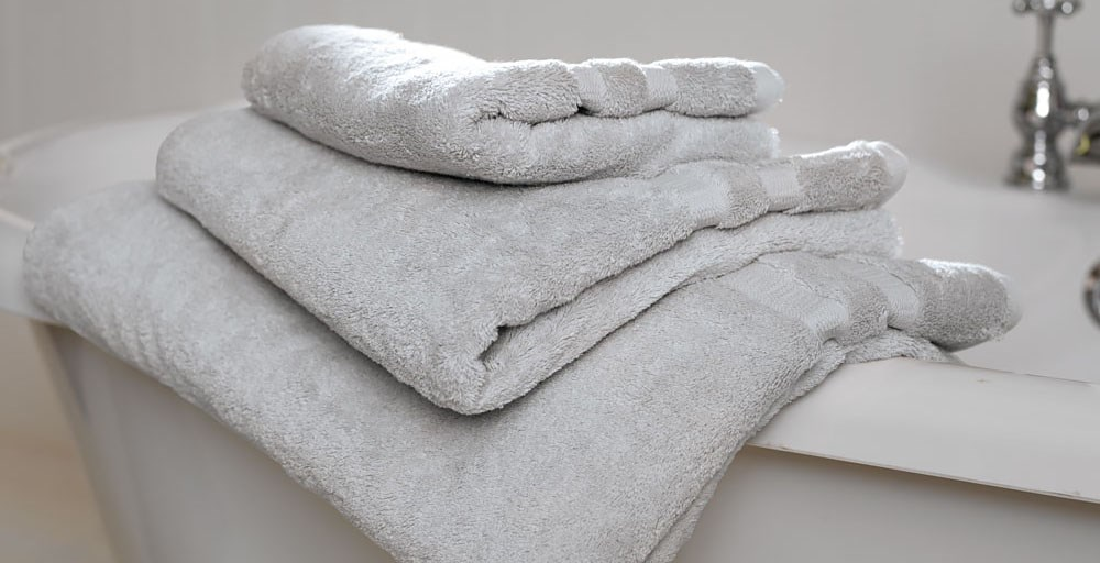 Silver Egyptian Cotton Towels