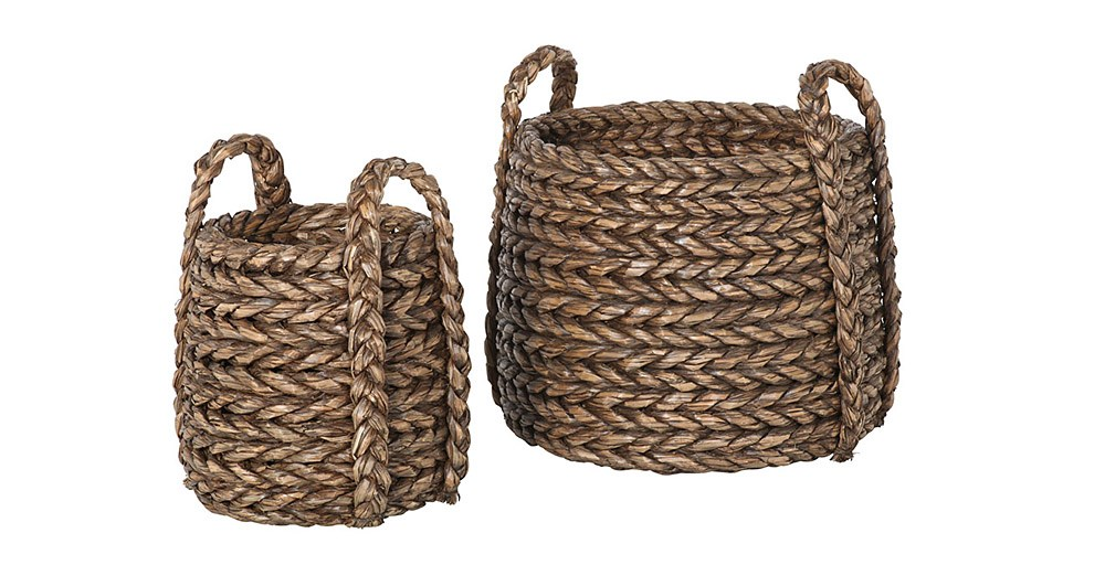 Chunky Weave Basket (Set of 2)