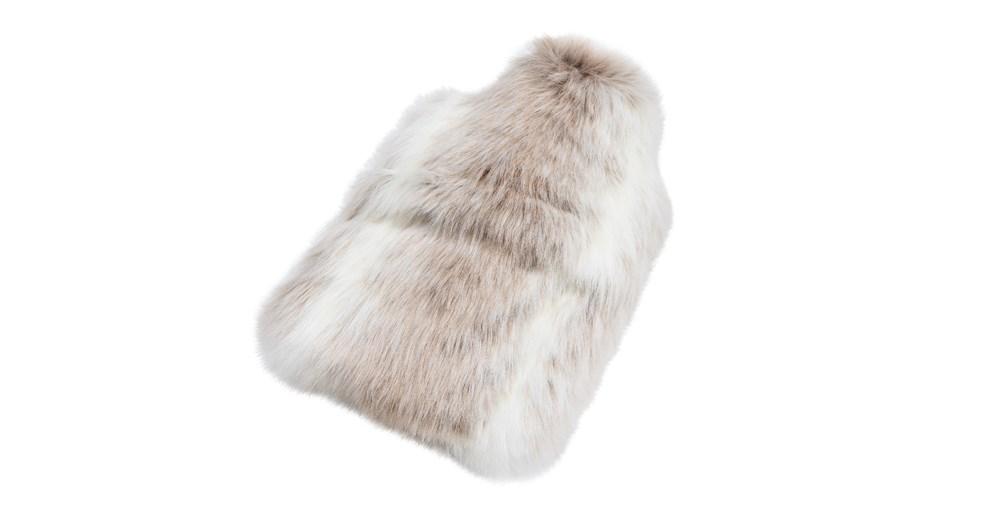Reindeer Faux Fur Hot Water Bottle