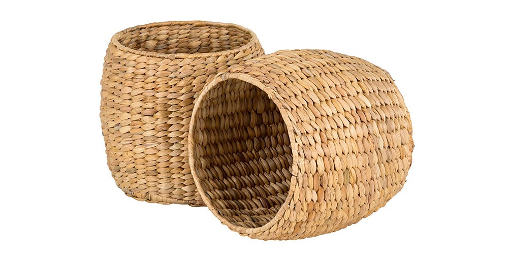 Water Hyacinth Baskets (Set of 2)