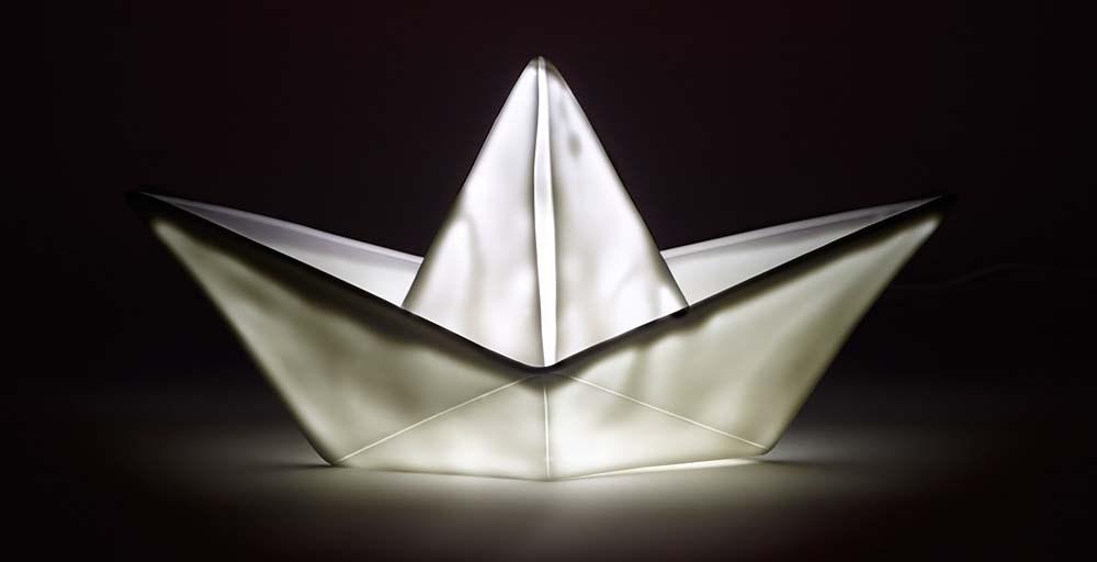 Origami Boat Lamp