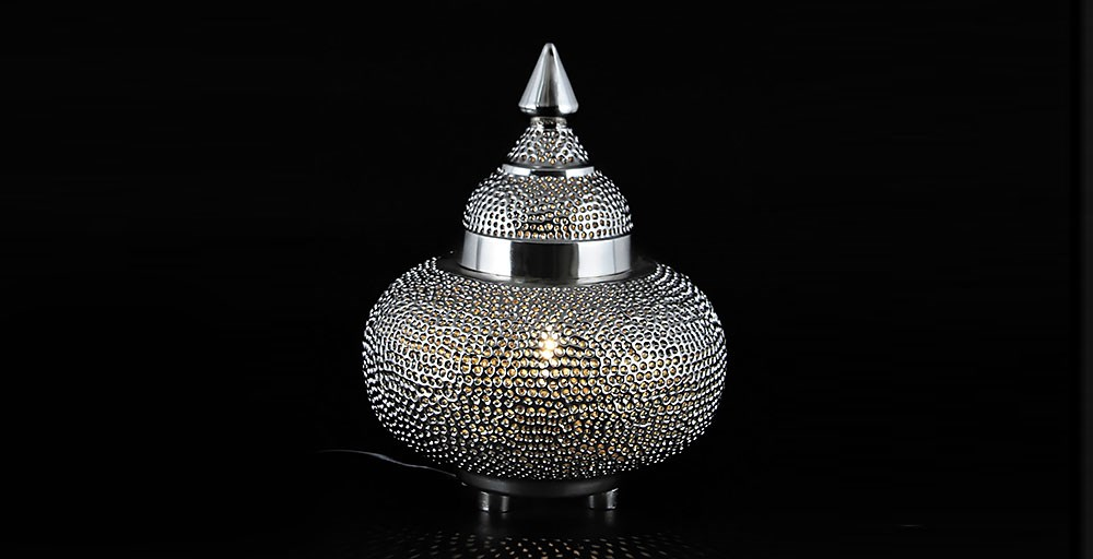 Safi Punched Metal Table Lamp