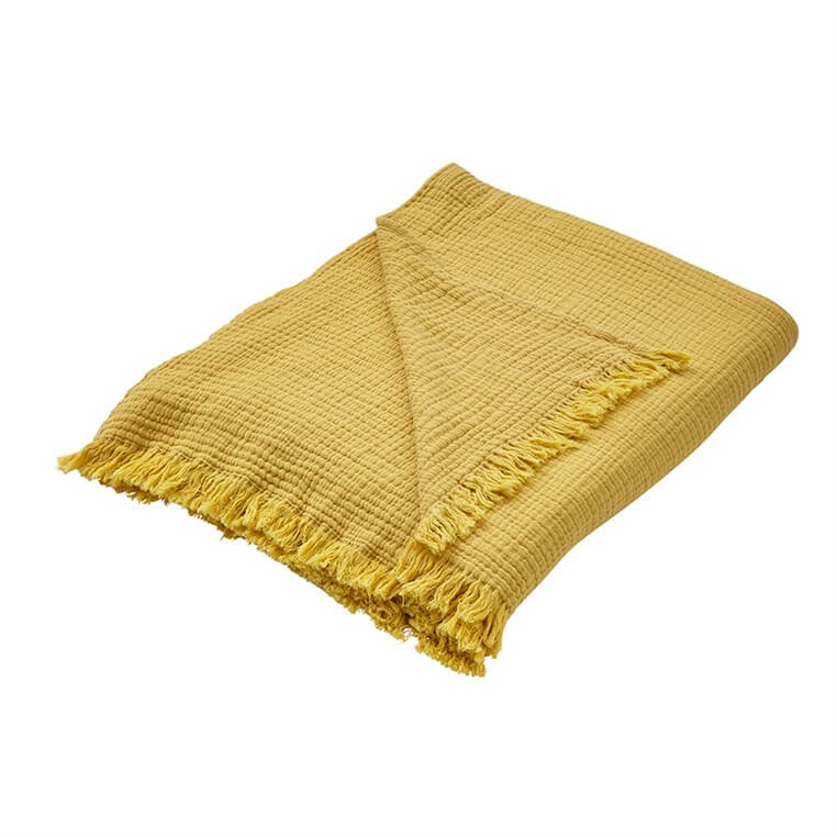 Looe Crinkle Ochre Throw