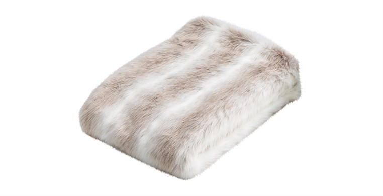 Reindeer Faux Fur Throw