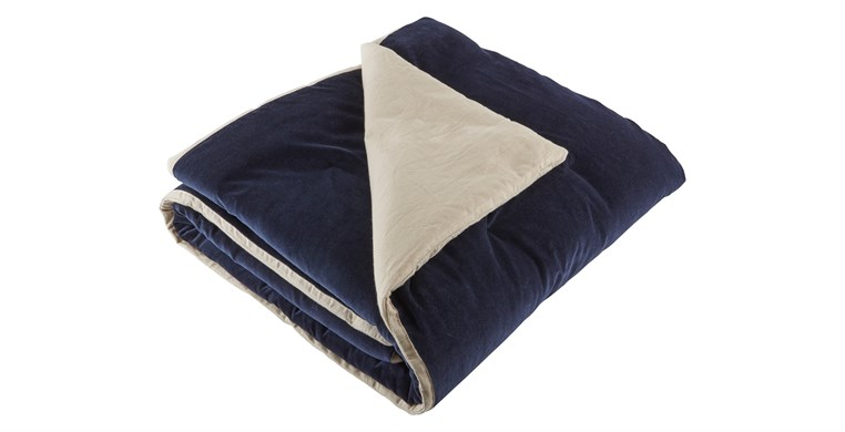 Velvet Prussian Blue Throws
