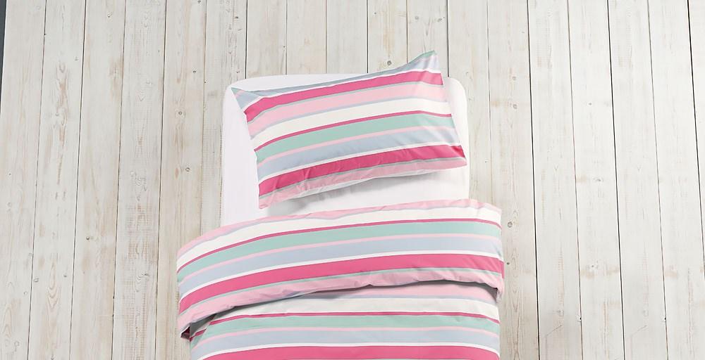 Girls Multi Stripe Bed Linen Set