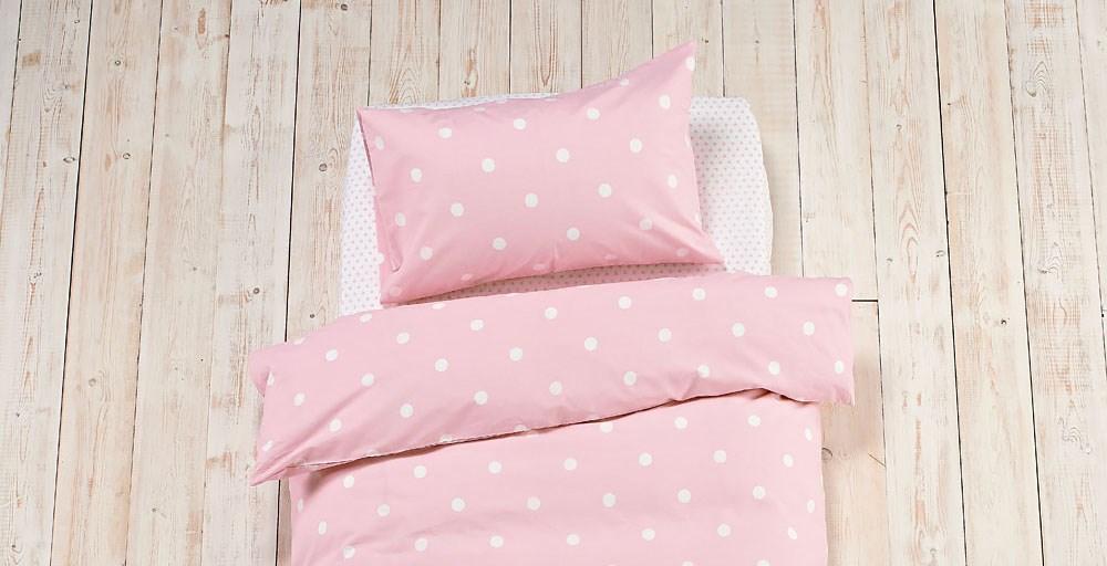 Pink Polkadot Bed Linen Set