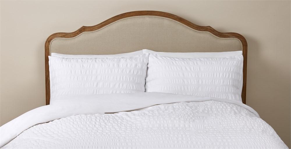 Sadie White Seersucker Bed Linen Set