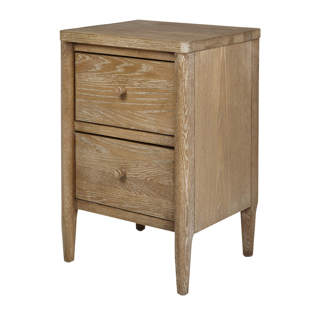 Aubrey 2 Drawer Bedside Table