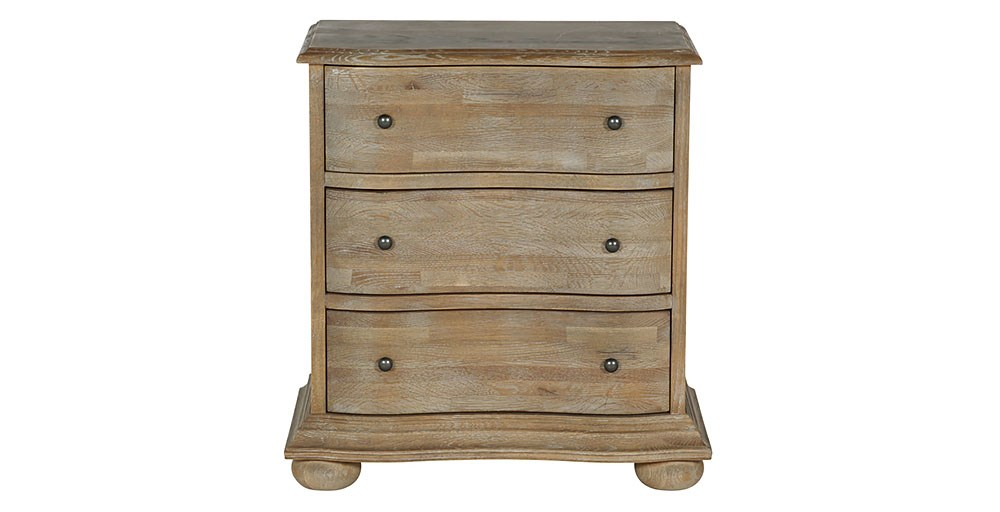 Blenheim 3 Drawer Bedside