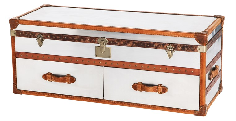 Chicago End of Bed Stainless Steel Trunk