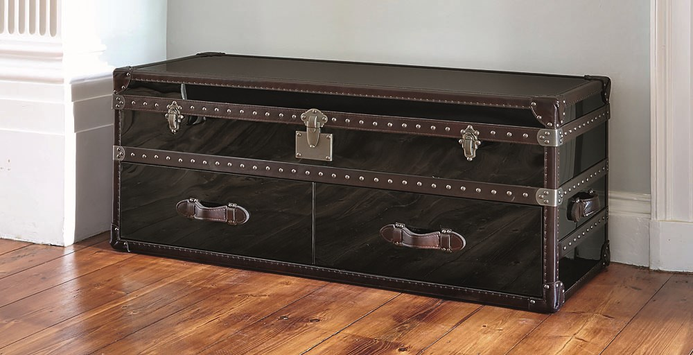 Chicago End of Bed Black Stainless Steel Trunk