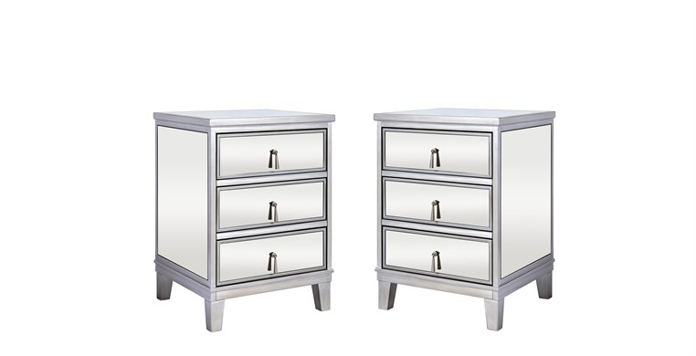 Gatsby Silver Bedside Tables