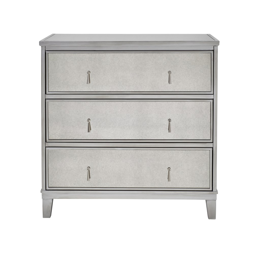 Gatsby Mirrored Silver 3 Drawer Chest