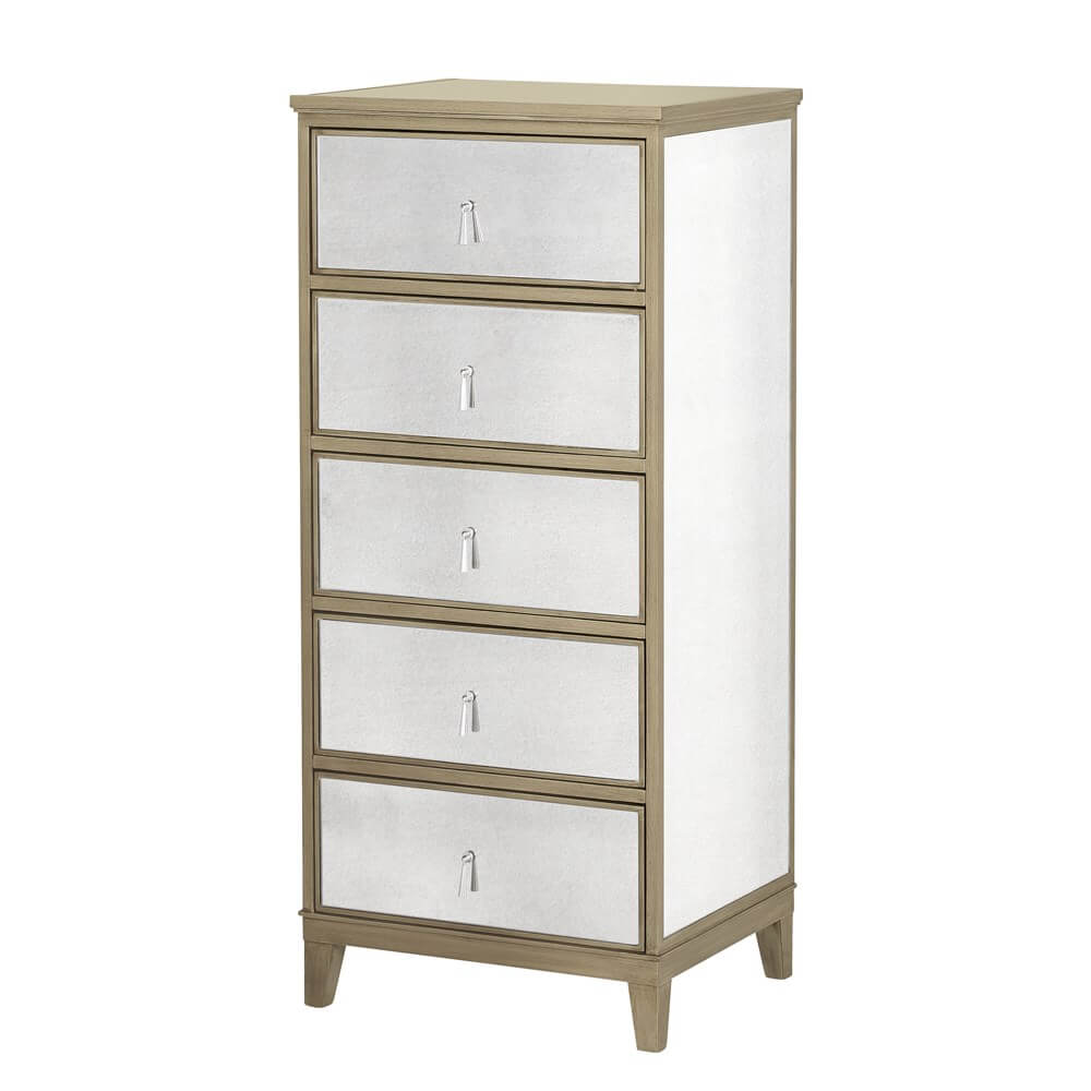 Gatsby Mirrored Gold Tall Chest
