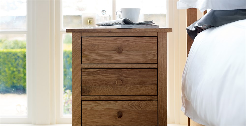 Marblehead 3 Drawer Bedside Table