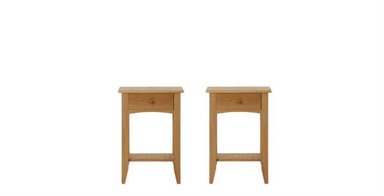 Marblehead Natural 1 Drawer Bedside Tables
