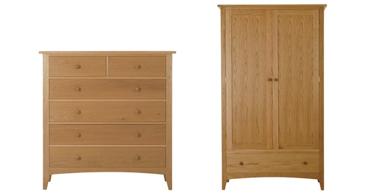 Marblehead Natural Chest & Wardrobe