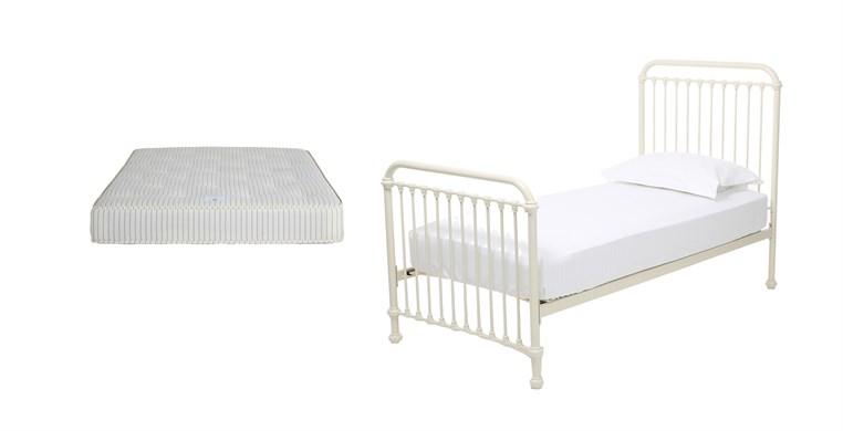 Oliver Warm White Bed & Lewis Mattress