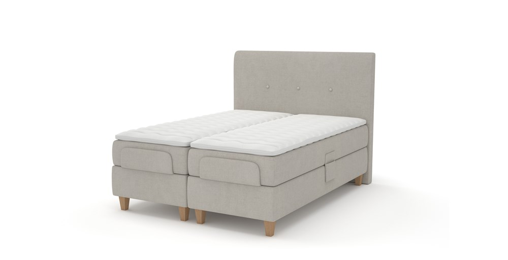 Oslo Adjustable Buttoned Bed System