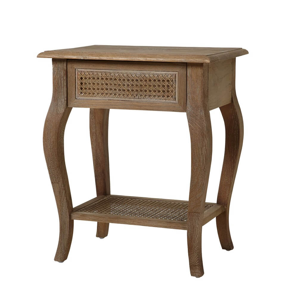 Sienna Rattan 1 Drawer Bedside Table