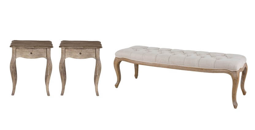 Sienna 2 Bedside Tables & Bench