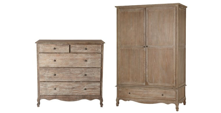 Sienna Chest & Wardrobe