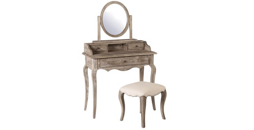Sienna Dressing Table, Stool & Mirror