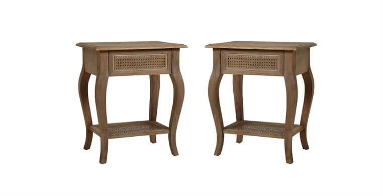 Sienna Rattan Bedside Tables