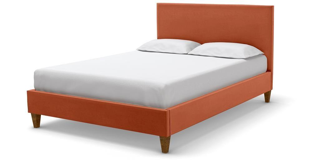 Cameron Double Bedstead - Umber Plush Velvet