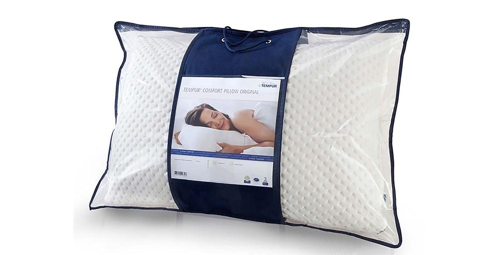 tempur comfort pillow feather black. Black Bedroom Furniture Sets. Home Design Ideas
