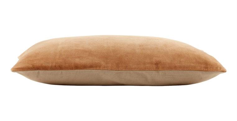 Rectangular Velvet Camel Cushion