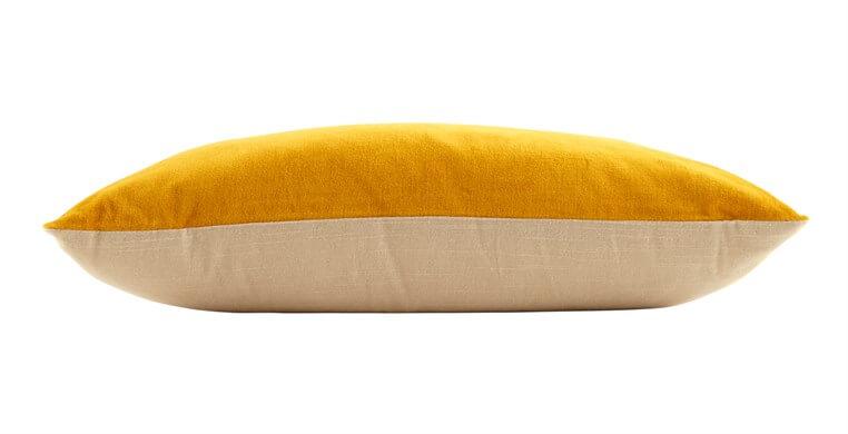 Rectangular Velvet Ochre Cushion