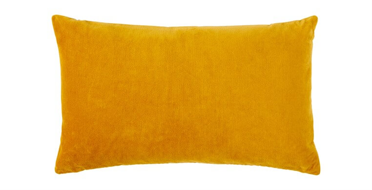 Rectangular Velvet Ochre Cushion