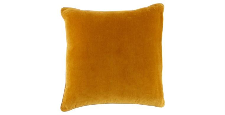 Square Velvet Ochre Cushion